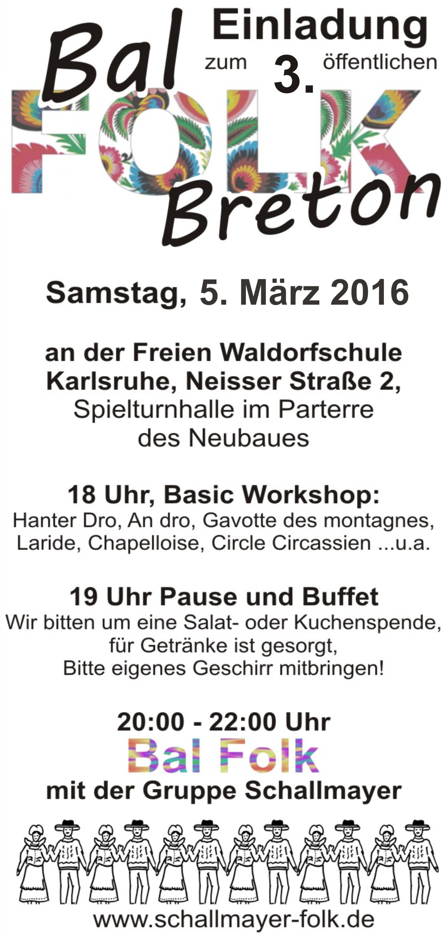 Flyer Entwurf Balfolk Vol - 3 2016